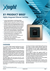 X1 Product Brief Cover